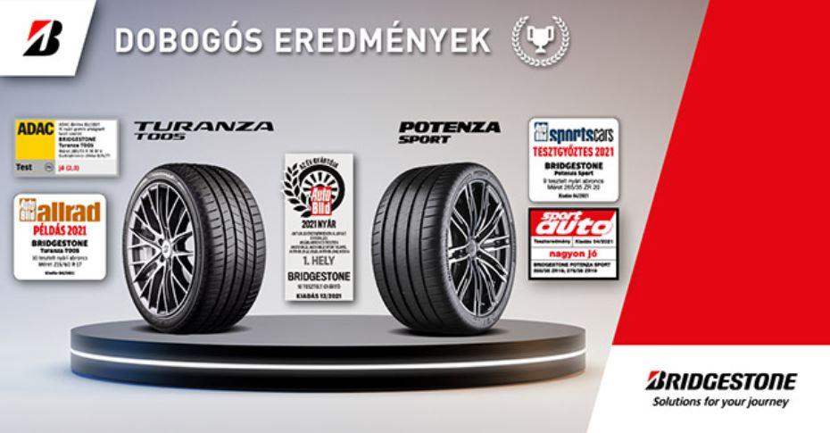 """Az AutoBild a Bridgestone-nak ítélte a 2021-es ''Év gyártója"""" címet"""